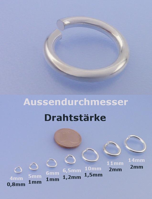 100 x Schraub/ösen Augenschrauben /Ösen Lochschrauben Schmuckbasteln Perlen Silber Gold 10 x 4 mm